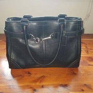 Coach handbag, small, black, authentic